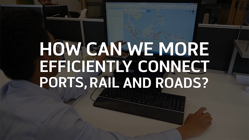 How can we more efficiently connect ports, rail and roads