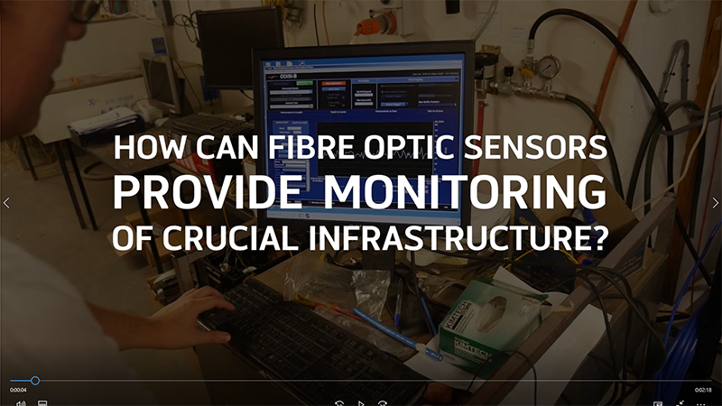 Using fibre optic sensors to monitor potential infrastructure failure